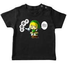 T-shirt bébé  parodique Link et la Fée Navi : Une fée pratique mais agaçante... (Parodie )