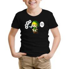 T-shirt Enfant  parodique Link et la Fée Navi : Une fée pratique mais agaçante... (Parodie )