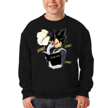 Sweat-shirts  parodique Végéta de Dragon Ball Super et le Death Note : Une idée fixe... (Parodie )