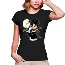 T-shirts Femmes  parodique Végéta de Dragon Ball Super et le Death Note : Une idée fixe... (Parodie )