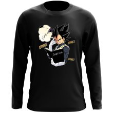 T-Shirt à manches longues  parodique Végéta de Dragon Ball Super et le Death Note : Une idée fixe... (Parodie )