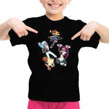 T-shirts  parodique Pikachu, Sasha et la Team Rocket : Une partie de Poké-Ball :) (Parodie )
