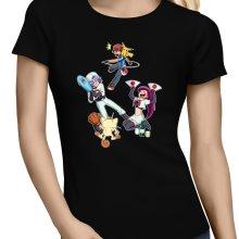 T-shirts Femmes  parodique Pikachu, Sasha et la Team Rocket : Une partie de Poké-Ball :) (Parodie )