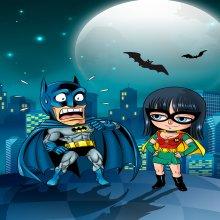 Affiche / Poster Géant HD (122 x 91 cm)  parodique Batman et Robin : Une équipe de choc !! (Parodie )