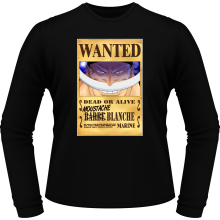 T-Shirts à manches longues  parodique Edward Newgate - Barbe Blanche : Le Wanted secret... :) (Parodie )